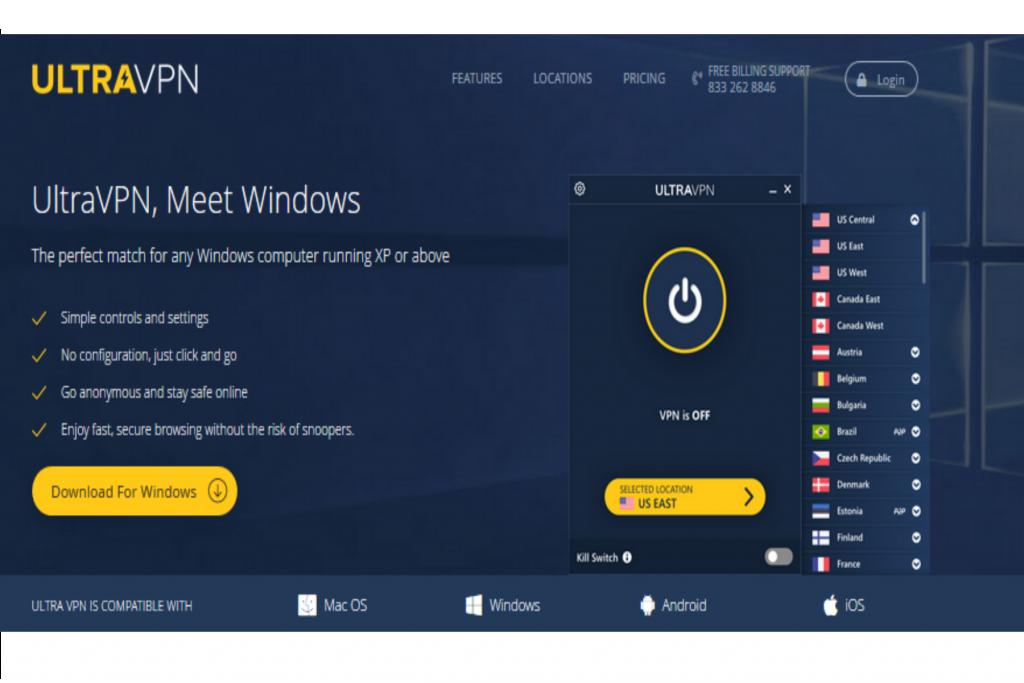 UltraVPN Website
