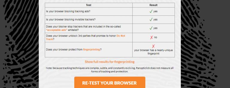 Browser Fingerprinting Test image