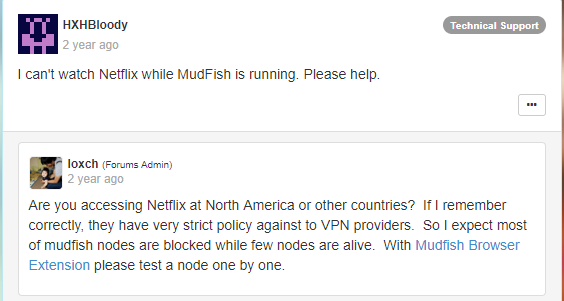 Mudfish streaming restriction image