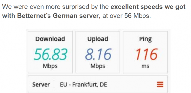 Betternet Speed Test-2 image