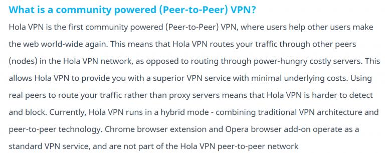 Hola VPN FAQ image